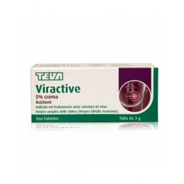 Viractive 5% aciclovir herpes crema dermatologica 3 g