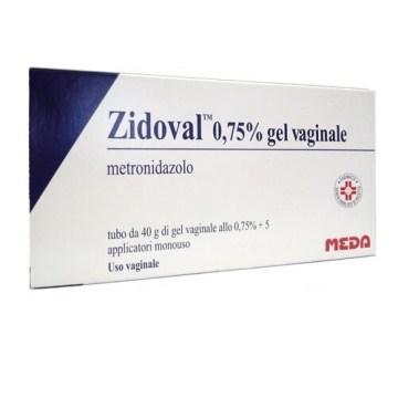 Zidoval 0,75% gel vaginale 5 applicatori tubo 40 g