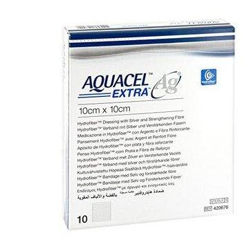 Aquacel ag extra medicazione con ioni argento 10x10 cm 10 pezzi
