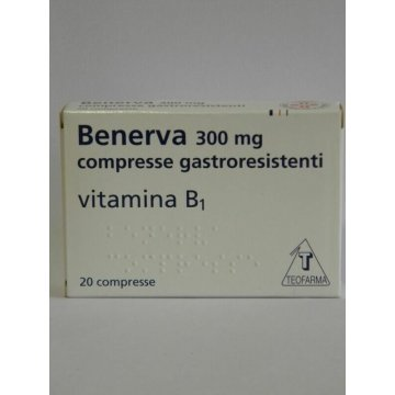 Benerva 300 mg Vitamina B1 20 compresse gastroresistenti
