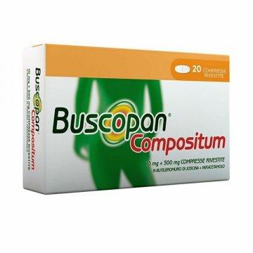 Buscopan Compositum 10mg+500mg Antispastico 20 compresse rivestite