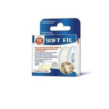 Cerotto in rocchetto pic soft fix tessuto non tessuto 2,5x914 cm in dispenser 1 pezzo