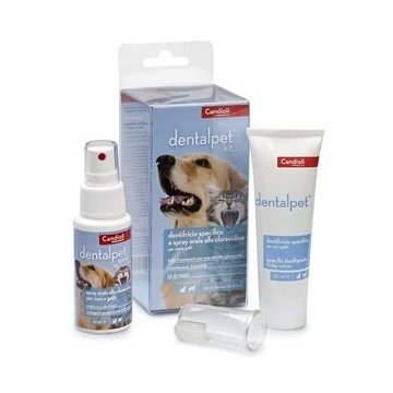 Dentalpet kit dentifricio 50ml+spray orale 50ml+1 ditale
