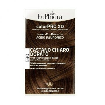 Euphidra colorpro xd 530 castano chiaro dorato gel colorantecapelli in flacone + attivante + balsamo + guanti