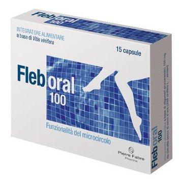 Fleboral 100 mg Integratore Microcircolo 15 capsule