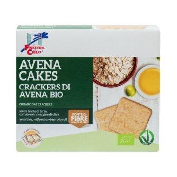 Fsc avenacakes crackers di avena bio vegan senza lievito dibirra con olio extravergine di oliva 250 g