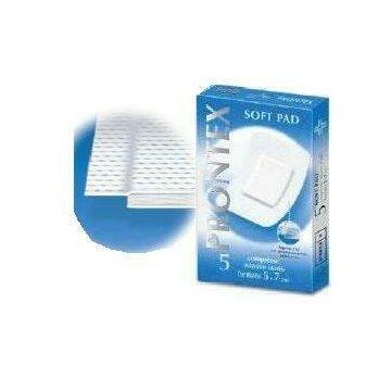 Garza prontex soft pad compressa 5x7 cm 5 pezzi