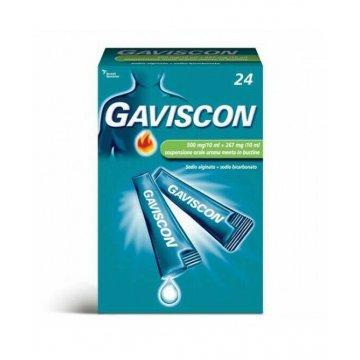 Gaviscon 24 bustine Antireflusso 500 + 267 mg/10ml