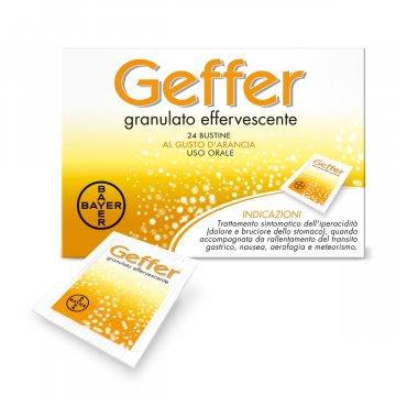 Geffer Granulato effervescente Trattamento iperacidità 24 bustine 5 g