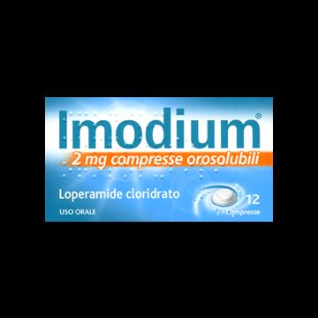Imodium 2 mg 12 Compresse Orosolubili Antidiarroico
