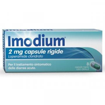 Imodium antidiarroico 8 capsule 2 mg