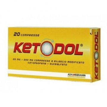 Ketodol 20 compresse 25mg + 200mg a Rilascio Modificato