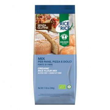 Rice&rice mix per pane/pizza/dolci 500 g senza lievito