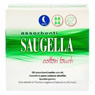 Saugella cotton touch assorbenti notte 12 pezzi taglio prezzo