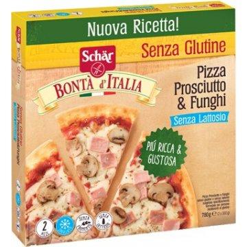 Schar surgelati pizza prosciutto & funghi bonta'italia 2 pezzi x 390 g