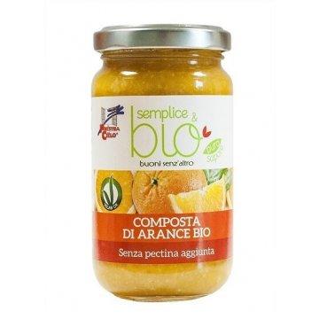 Semplice&bio composta di arance senza pectina 220 g