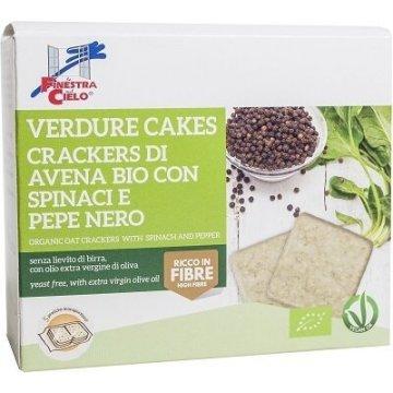 Verdure cakes-spinaci e pepe nero bio 250 g