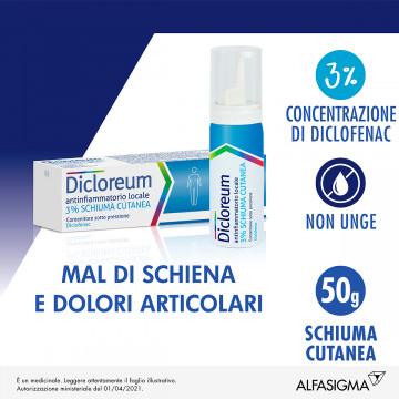 Dicloreum antinfiammatorio locale schiuma cutanea 50 g 3%