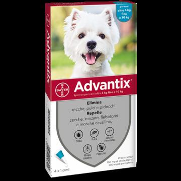 Advantix spot on 4 pipette 1 ml cani da 4 a 10 kg