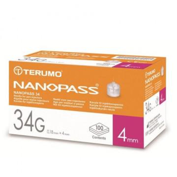 Ago per penna da insulina nanopass gauge 34 lunghezza 4 mm 100 pezzi