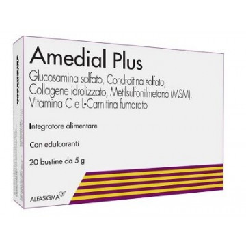 Amedial Plus Integratore Ossa e Cartilagini 20 bustine