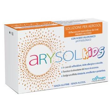 Arysol kids soluzione bambini per aerosol con acido ialuronico ph fisiologico 10 flaconcini monodose da 5 ml