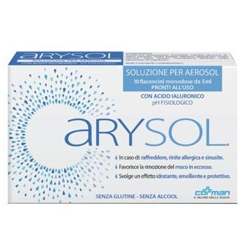 Arysol soluzione adulti per aerosol con acido ialuronico phfisiologico 10 flaconcini monodose da 5 ml