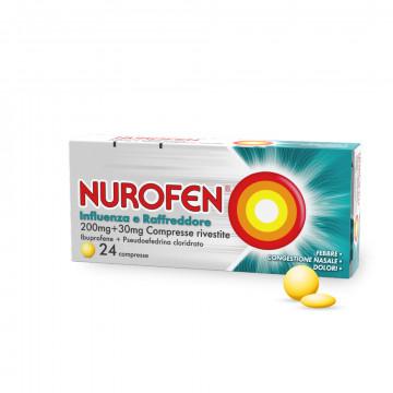 Nurofen 200 mg Influenza e Raffreddore 24 compresse rivestite