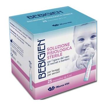 Bebigien soluzione fisiologica sterile 25 flaconcini monodose da 5 ml