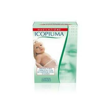 Benda icopiuma a compressione fisiologica rete ombelicale con garze sterili 1 pezzo
