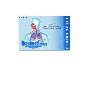 Bromacetil 600 mg Integratore Apparato Respiratorio 15 compresse