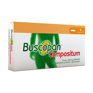 Buscopan compositum 10 mg + 500 mg 6 supposte