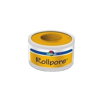 Cerotto in rocchetto master-aid rollpore tessuto non tessuto5x2,5