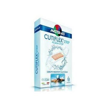 Cerotto master-aid cutiflex strip trasparente impermeabile supporto in poliuretano medio 10 pezzi