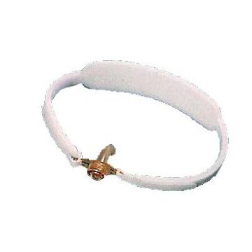 Collare reggicannula per tracheotomizzati. regolabile da entrambi i lati tramite adesivo in velcro. prodotto in poliammide. misura unica