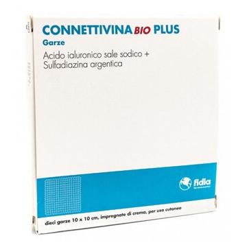 Connettivina Bio Plus Piaghe e Ulcere 10x10cm 10 garze impregnate