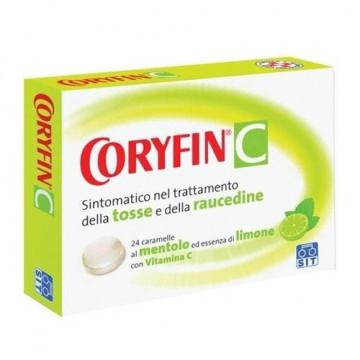 Coryfin C Tosse e Raucedine 24 caramelle al limone