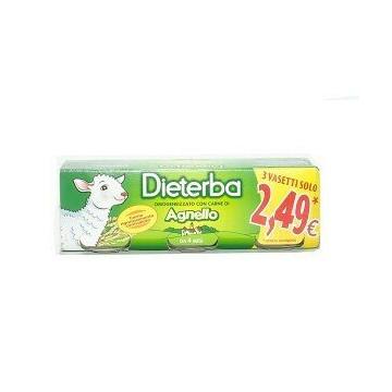 Dieterba omogeneizzato agnello 3 pezzi 80 g