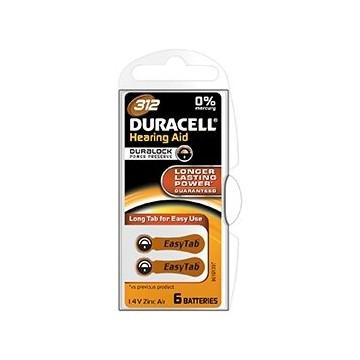 Duracell Easy Tab 312 Marrone Batteria Apparecchio Acustico