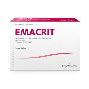 Emacrit Integratore Ferro e vitamine C, B6 e B12 30 capsule 12,45 g