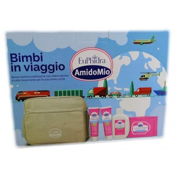 Euphidra Amidomio borsa bimbi con gel polvere +detergente +crema idratante +salviettine