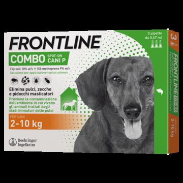 Frontline combo spot-on 3 pipette 0,67 ml cani da 2 a 10 kg