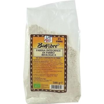 Fsc biofibre+ farina integrale di farro bio ad alto contenuto di fibra 500 g