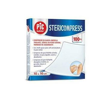 Pic Stericompress Compresse di Garza Sterili Cotone 10x10 cm 25 pezzi