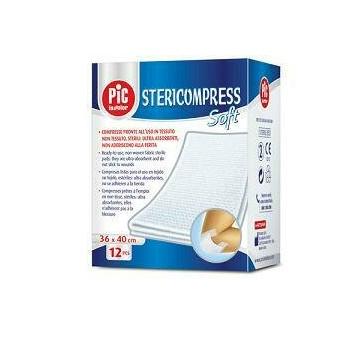 PIC Stericompress Soft Garza in tessuto non tessuto 36x40cm 12 pezzi
