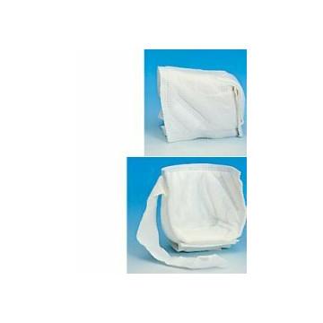 Gomitiera/talloniera in tessuto non tessuto con doppia imbottitura ovattata. regolabile tramite cinturino di fissaggio in velcro. assorbenti e traspiranti