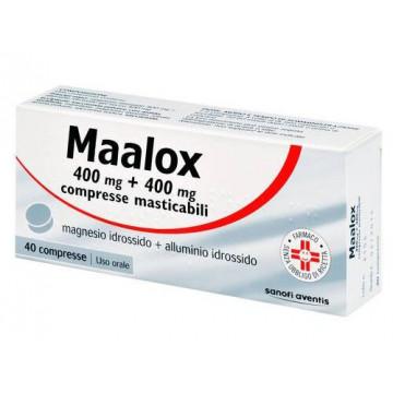 Maalox Compresse Masticabili Bruciore di Stomaco 40 pezzi