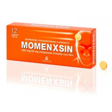 Momenxsin 200 mg + 30 mg Ibuprofene Pseudoefedrina 12 compresse