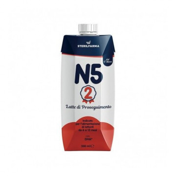 N5 2 latte di proseguimento liquido 6-12 mesi 500 ml