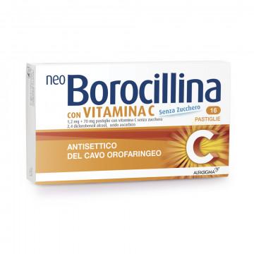 Neoborocillina vitamina c senza zucchero16 pastiglie